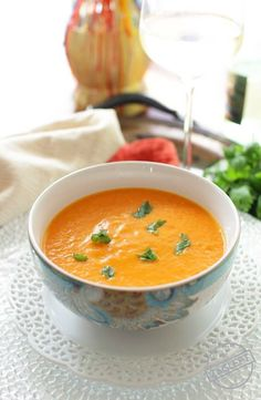 You'll love the spices in this Curried Carrot Soup For One. This easy recipe is hearty and flavorful. It's a great recipe for anyone cooking for one.