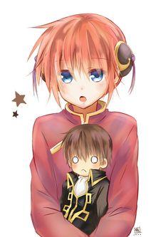 総悟&神楽 Okikagu, Manga, Anime Couples, Samurai, Chibi, Wattpad, Funny, Cute, Fictional Characters