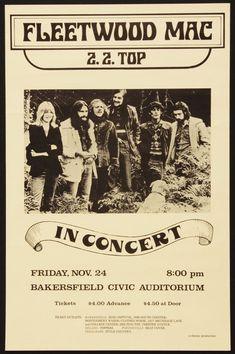 Fleetwood Mac Original Concert Poster Más