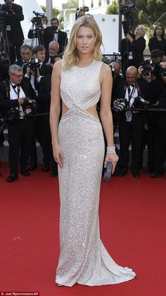 Jourdan Dunn and Toni Garrn at The Little Prince premiere in Cannes #dailymail