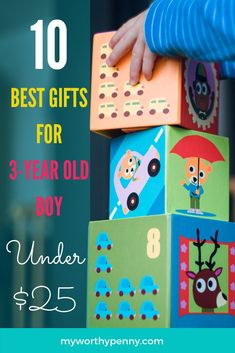 Are you looking for a budget friendly gift for a 3 year old? Get any of these amazing gifts for a 3-year old boy that are under $25 to make your birthday celebrant happy and your pocket happy too. Click through to find out. 3 Year Old Boy, 2 Year Olds, Frugal Tips, Last Minute Gifts, Old Boys, Gifts For Boys, Thoughtful Gifts, Amazing Gifts, Gift Guide