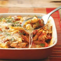 What's for dinner tonight? Check out this Chicken Penne Casserole from Taste of Home. Try it with whole wheat pasta and pair it with a salad! New Recipes, Dinner Recipes, Cooking Recipes, Atkins Recipes, Quick Recipes, Potato Recipes, Paleo Recipes, Cooking Tips, Chicken Recipes