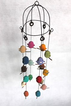 I LOVE this!! I need to learn to crochet birds.