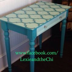 {DIY} Moroccan Tile Stenciled Table | Stenciled Table, Moroccan And  Stenciling