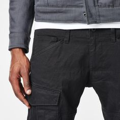 G-Star RAW | Men | Pants | Rovic Twill Slim Pants , Black