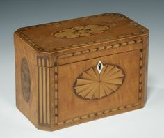 Georgian Satinwood Tea Caddy from Richard Gardner Antiques