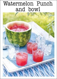 Watermelon Punch Bowl and other Party Food Ideas