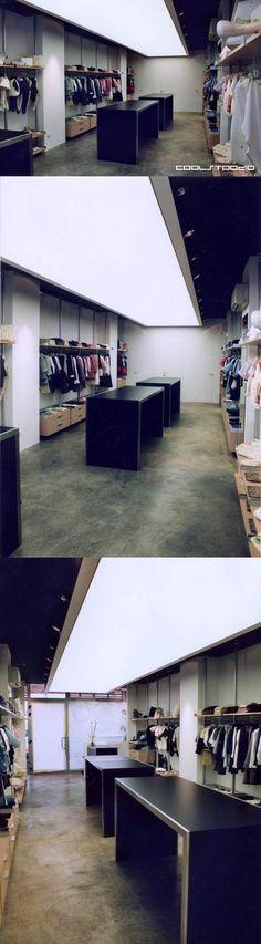 Alluminio store - Furniture for a clothing store.