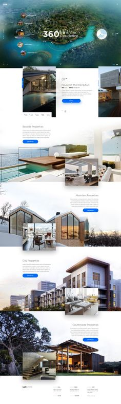 ideas for landscaping ideas layout urban Travel Website Design, Real Estate Website Design, Beautiful Website Design, Travel Design, Website Designs, Cool Web Design, Page Design, Webdesign Inspiration, Website Design Inspiration