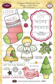Christmas Stitched with Love Clear Stamps
