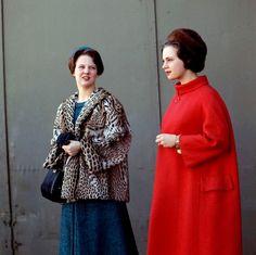 Princess Margrethe of Denmark and sister, Princess Benedikte.