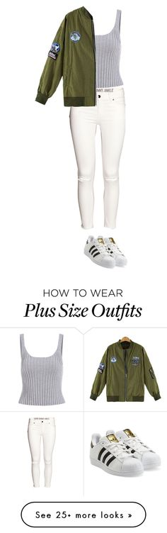 """Sin título #82"" by angelaaurazo on Polyvore featuring H&M and adidas Originals"