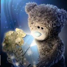 Florynda del Sol ღ☀¨✿ ¸.ღ ♥Tatty Teddy Anche gli Orsetti hanno un'anima…♥ Teddy Bear Quotes, Teddy Bear Images, Teddy Bear Pictures, Happy Birthday Wishes For A Friend, Happy Birthday Quotes, Happy Birthday Messages, Tatty Teddy, Bear Graphic, Blue Nose Friends