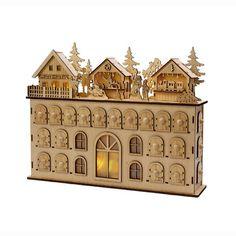 LED Wooden Advent Calendar, Printery House