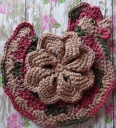 Crochet Chicken Potholder by Linda K Weddle