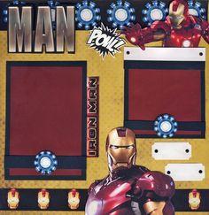 Iron Man 2 Premade Scrapbook Pages Boy Ironman 4 Album Paper Piecing Cherry | eBay