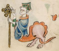 Detail from The Luttrell Psalter, British Library Add MS 42130 (medieval manuscript,1325-1340), f34v