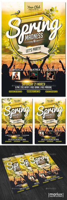 Spring Break  Summer Party Flyer   New Design