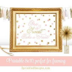 One is Sweet Take A Treat Printable First by SprinkledDesign