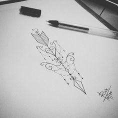 Instagram media by rick_tattooscp - Criação exclusiva para cliente mais a mesma desistiu de fazer , então fica aqui a arte pra vocês usarem como inspiração ou fazer como está mesmo rsrs , muito obg a todos que acompanham meus trabalhos ✌❤ #tattoodesigns #tattoodrawing #tattooist #tattooartist #tattoo2me #tatuagensfemininas #eunotatuagensfemininas #tattoscute #draw2me #draw #arrow #arrowtattoo #ornamentaltattoo #blacktattoo #blackwork #dotworktattoo #dotwork #tatuadores