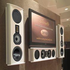 Legacy Audio Silhouette & Silhouette Center speakers, providing no compromise performance in an elegant deep on-wall design. Speaker Amplifier, Hifi Speakers, Hifi Audio, In Wall Speakers, Built In Speakers, Home Theather, Sound Room, Center Speaker, Speaker Plans