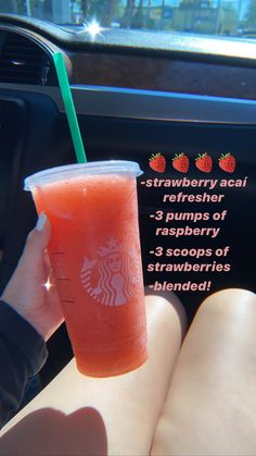 it's bomb. trust me Bebidas Do Starbucks, Healthy Starbucks Drinks, Starbucks Secret Menu Drinks, Yummy Drinks, Starbucks Coffee, Menu Secret, Coffee Drink Recipes, Coffee Drinks, How To Order Starbucks