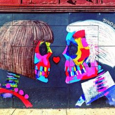Anna Wintour and Karl Lagerfeld Where: Soho/Little Italy; outside L'asso Pizzeria, 192 Mott Street (at Kenmare Street). Art By: Bradley Theodore