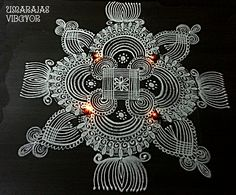 Indian Rangoli Designs, Small Rangoli Design, Rangoli Ideas, Rangoli Designs With Dots, Rangoli Designs Images, Kolam Rangoli, Flower Rangoli, Beautiful Rangoli Designs, Mandala Design