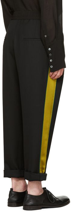 Haider Ackermann - Black Stripe Trousers