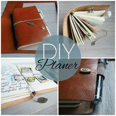 Aus Lederresten einen Planer machen, -ohne zu nähen! #DIY #fauxdori #Planner #Notebookn #Travelers Notebook #Midori