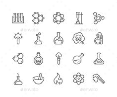 Buy Line Chemical Icons by davooda on GraphicRiver. Simple Set of Chemical Related Vector Line Icons. Contains such Icons as Atom, Flask, Experiment, Research, Laborator. Body Art Tattoos, Sleeve Tattoos, Tatoos, Atom Tattoo, Chemistry Tattoo, Science Icons, Finger Tats, Poke Tattoo, Stick And Poke