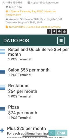 Point of Sale for Retail, Restaurant, Salon, Pizza for iPad Restaurant App, Credit Card Readers, Salon Signs, Point Of Sale, Monthly Subscription, Cash Register, Tech Support, Pos, Salons