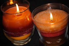 Easy Candle Upcycle...using your old glass jar candles..great idea