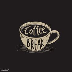 Coffee break vector | free image by rawpixel.com