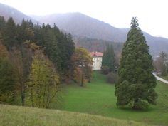 The park and energy path at the Rimske terme spa