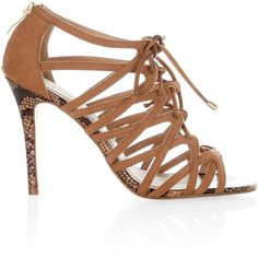 Monsoon Ariana Heeled Gladiator Sandal ($18) ❤ liked on Polyvore