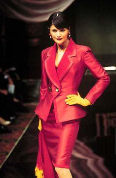 Helena Christensen for Christian Dior Fall 1995