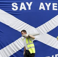 Supporters of Scottish independence take narrow poll lead for first time