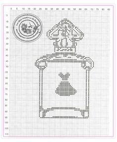 point de croix bouteille de parfum petite robe noire - cross stitch bottle of perfume little black dress