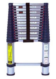 Foot Telescoping Aluminum Ladder Type I Professional Series by Xtend & Climb Best Ladder, Rv Hacks, Hacks Diy, Life Hacks, Type I, Rv Travel, Travel Trailers, Rv Trailers, Ideas