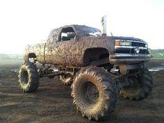 This is WAY sexier than some shiny sports car! Muddy Trucks, Hot Rod Trucks, 4x4 Trucks, Diesel Trucks, Lifted Trucks, Cool Trucks, Big Monster Trucks, Chevrolet Trucks, 1957 Chevrolet