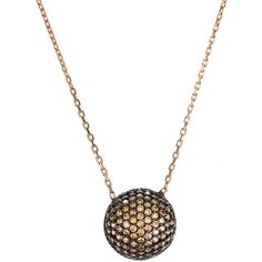 Latelita London - Sparkling Orb Necklace Chocolate CZ (£51) ❤ liked on Polyvore featuring jewelry, necklaces, cubic zirconia necklaces, sparkle jewelry, sparkly necklace, cz jewelry and cubic zirconia jewelry