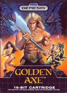 Golden Axe Boxart - High Res - Front and Back