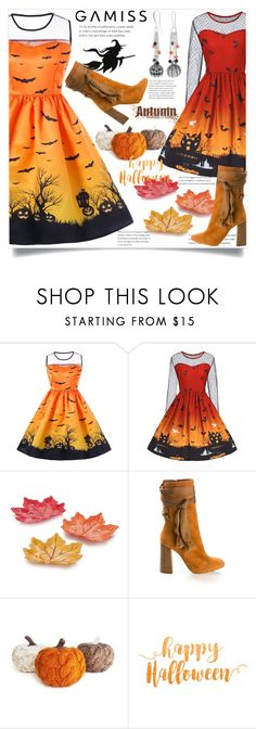"""""""Halloween dresses- Gamiss contest"""" by ramiza-rotic ❤ liked on Polyvore featuring Chloé, nice, dress, horror, woman and gamiss"""