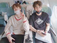 200207 Nam Dohyon and Lee Hangyul on a plane to Sapporo Boyfriend Material, Funny Texts, My Boys, Rapper, Idol, Wattpad, Actors, Guys, Sweatshirts