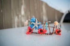 Coral Faerie Crown **SOLD**  $32 on Etsy  #fairycrown #mermaid #faeriecrown #crown #headdress #bridal #starfish #cosplay #mermaidcostume #rage