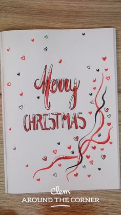DIY do it yourself carte de voeux love coeur merry christmas greeting card pour Noël bujo cover bullet journal 2019 winter do it your way habit tracker cover page home new year calligraphie calenda… New Year Calligraphy, Merry Christmas Calligraphy, Calligraphy Doodles, How To Write Calligraphy, Calligraphy Writing, Calligraphy Video, Calligraphy Handwriting, Calligraphy Quotes, Happy Birthday Humorous