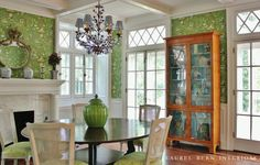 laurel-bern-interiors-portfolio-dining-room-ny-interior-design_watermarked2  what is this wall paper? Love it!