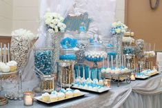 Sweets table at a 40th birthday party! See more party ideas at CatchMyParty.com!