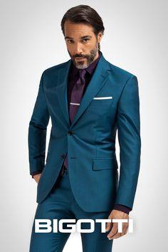 #Aqua #blue – #refined and #unconventional  www.bigotti.ro #Bigottiromania #moda #fashion #barbati #men #costume #suits #nonconformist #rafinat #albastru #nuante